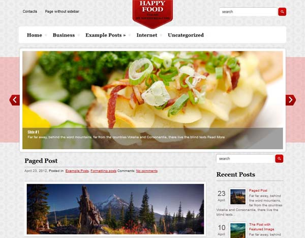 HappyFood WordPress Theme