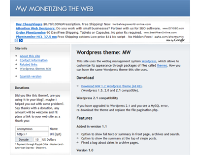Monetizing the Web Theme
